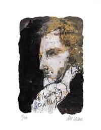 """Druckgrafik """"Friedrich Schiller"""" von Armin Mueller-Stahl"""