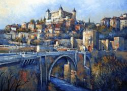 """Majestic Toledo"" - Großformatiges Ölgemälde von Behshad Arjomandi"