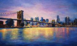 """New York, New York"" - Großformatiges Ölgemälde von Behshad Arjomandi"