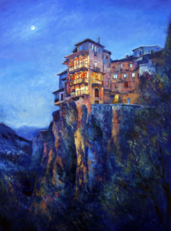 """A magical night in Cuenca"" - Ölgemälde von Behshad Arjomandi"