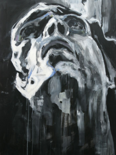 Großformatige Portraitmalerei von Behshad Arjomandi