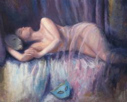 """""""Dreaming"""" - Großformatiges Ölgemälde von Behshad Arjomandi"""