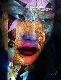 """""""Jade"""" - Digital illustrierte Portraitfotografie als Giclée Print von Rich Ray Art"""