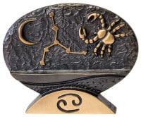 """Sternzeichen-Skulptur """"Krebs"""" aus Bronze von Bernardo Esposto"""