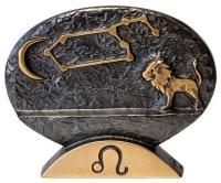 """Sternzeichen-Skulptur """"Löwe"""" aus Bronze von Bernardo Esposto"""