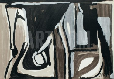 """""""MP 404 Nocturne"""" - Limitierter Lithografie von Bram van Velde"""