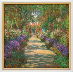 """Garten in Giverny"" (1902) von Claude Monet, limitierte Reproduktion"