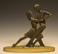 """Tango"" - Bronzeskulptur von David G Smith"