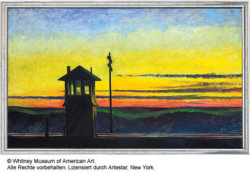 """Railroad Sunset"" (1929) - Limitierter Gicléedruck von Edward Hopper"