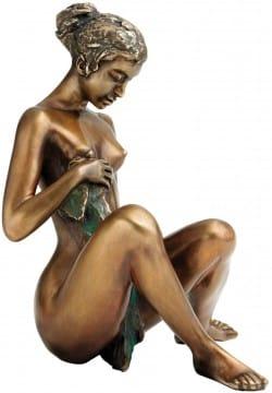 """Bronzeskulptur """"Badeskizze"""" von Erwin A. Schinzel"""