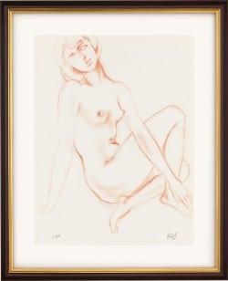 """Giclée """"Geliebtes Mädchen"""" (1980) von Erwin A. Schinzel"""
