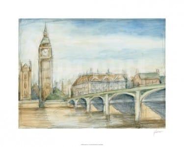 """""""London View"""" - Limitierter Kunstdruck von Ethan Harper"""