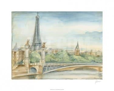 """""""Pariser Ausblick"""" - Limitierter Kunstdruck von Ethan Harper"""