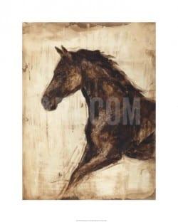 """""""Weathered Equestrian I"""" - Limitierter Giclée-Druck von Ethan Harper"""