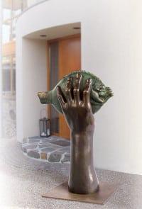 """Bronze-Skulptur """"Butt im Griff II"""" von Günter Grass"""