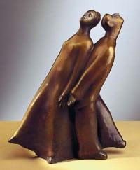"Bronze-Skulptur ""Rücken an Rücken"" von Günter Grass"