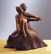 """Bronze-Skulptur """"Schneller Schritt"""" von Günter Grass"""