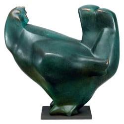 """Bronzeplastik """"Henne"""" von Günter Grass"""