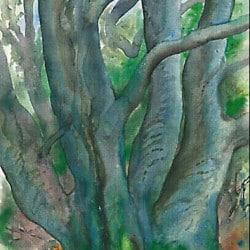 """Druckgrafik """"Baum I. Waldlandschaft 2000"""" von Günter Grass"""