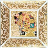 """Porzellanschale """"Die Erfüllung"""" mit Goldelementen nach Gustav Klimt"""