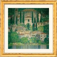 """Gustav Klimt: """"Kirche in Cassone am Gardasee"""" (Reproduktion auf Bütten)"""