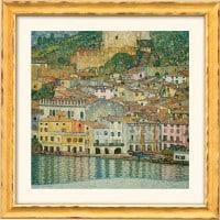 """Gustav Klimt: """"Malcesine am Gardasee"""" (Reproduktion auf Bütten)"""