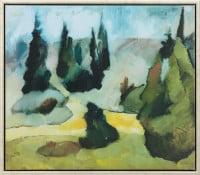 """Heinrich Nauen: """"Park Dilborn im Nebel"""" (limitierte Reproduktion)"""