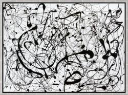 "Jackson Pollock: Bild ""Number 14: Gray"" (1948), gerahmte Reproduktion"