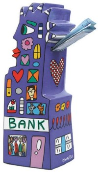 "James Rizzi: Spardose ""My Pointy Piggy Bank"" aus Porzellan"