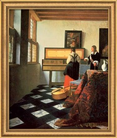 """""""Die Musikstunde"""" von Jan Vermeer van Delft, limit. Giclée Reproduktion"""