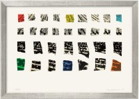 "Farblithografie ""Two Assemblages (Transparent)"" von John Baldessari, 2003"