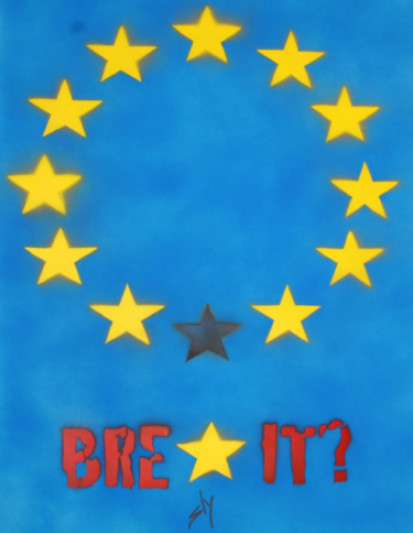 """""""Brexit?"""" - Spray-Paint Bild des britischen Urban Art Künstlers Juan Sly"""