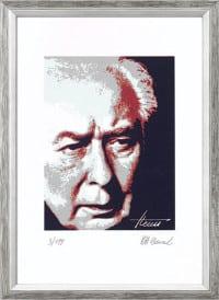 """Reproduktion des Bildes """"Theodor Heuss"""" von Karl-Heinz Laval"""
