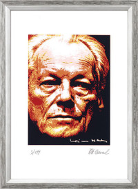 """Reproduktion des Bildes """"Willy Brandt"""" von Karl-Heinz Laval"""
