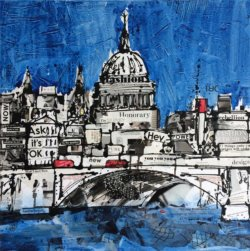 """Blue London"" - handgemaltes Acrylbild von Keith Mcbride"