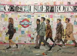 """Going Underground"" - Mixed Media Collage von Keith Mcbride"