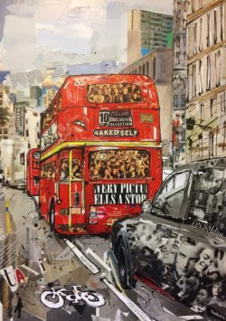 """Every Picture Tells a Story"" - Mixed Media Collage von Keith Mcbride"