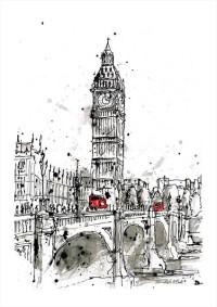 """""""London"""" - limitierter Kunstdruck von Keith Mcbride"""