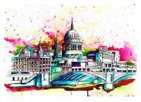 """""""St. Pauls Funky Skyline"""" - limitierter Kunstdruck von Keith Mcbride"""