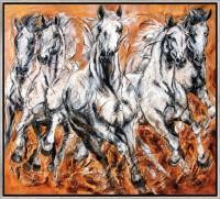 """Limitierte Giclée Reproduktion """"Herde"""" von Kerstin Tschech"""