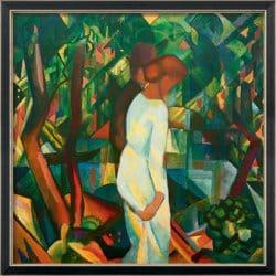 """""""Paar im Wald"""" von August Macke (limitierte Reproduktion)"""