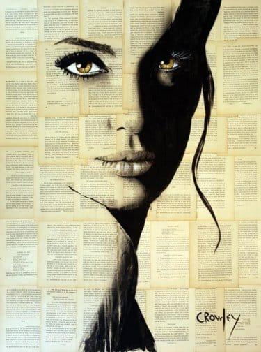 """""""Golden Eyes"""" - Acrylbild & Mixed Media Collage von Darren Crowley"""
