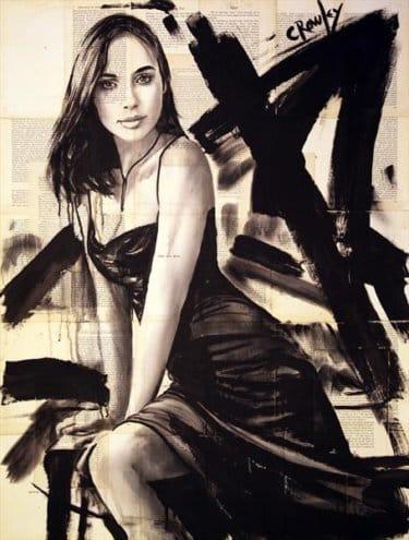 """""""Fire and Fuel"""" - Acrylbild und Mixed Media Collage von Darren Crowley"""