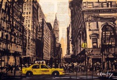 """""""New York"""" - Acrylbild & Mixed Media Collage von Darren Crowley"""
