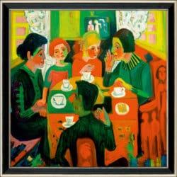 """""""Kaffeetisch"""" von Ernst Ludwig Kirchner (limitierte Reproduktion)"""