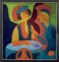 """""""Zwei Damen im Café"""" von Ernst Ludwig Kirchner (limitierte Reproduktion)"""
