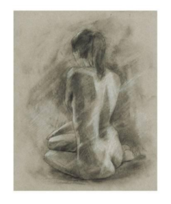 """Charcoal Figure Study II"" - Kunstdruck von Ethan Harper"