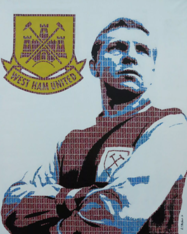 """Bobby Moore"" - Pop Art Collage von Gary Hogben"