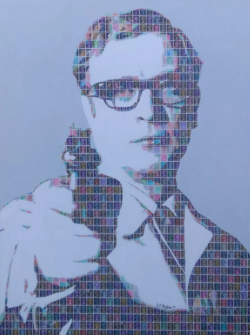 """Michael Caine - Harry Palmer"" - Pop Art Collage von Gary Hogben"