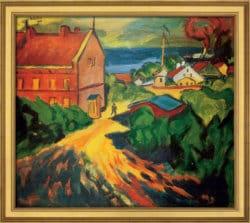 """""""Das rote Beamtenhaus in Nidden"""" von Max Pechstein (limitierte Reproduktion)"""